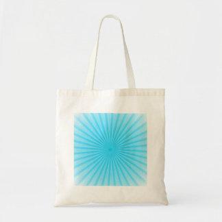 Blue Radial Sun Pattern Tote Bag