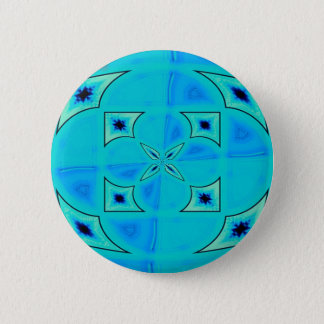 blue radiation pinback button