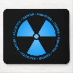 Blue Radiation Symbol Mousepad