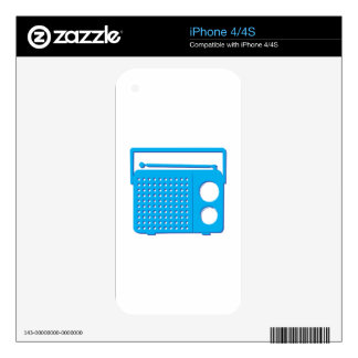 Blue Radio Skins For The iPhone 4
