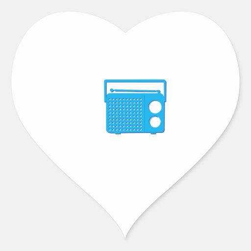Blue Radio Sticker