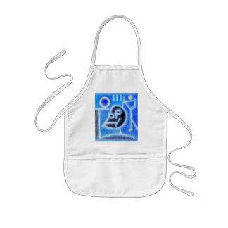 blue rag kids' apron