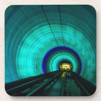 Blue railroad tunnel, Singapore Beverage Coaster