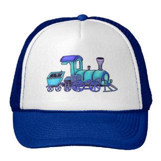 blue railway trucker hat