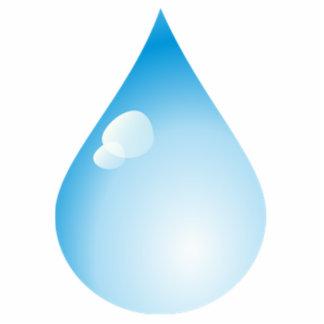 Blue Rain Drop Cutout