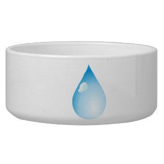 Blue Rain Drop Dog Water Bowls