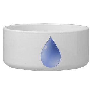 Blue Rain Drop Pet Bowl