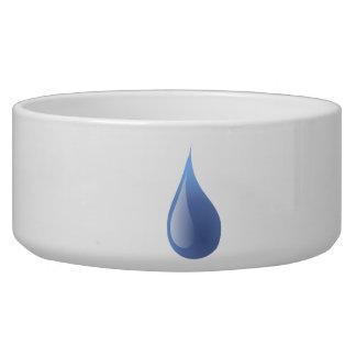 Blue Rain Drop Pet Food Bowls