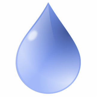 Blue Rain Drop Statuette