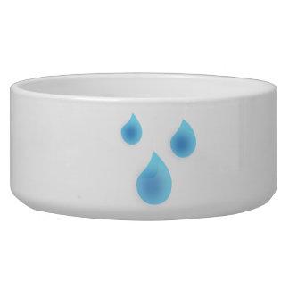 Blue Rain Drops Pet Water Bowl
