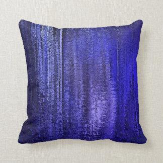 Blue Rain Spires Throw Pillow