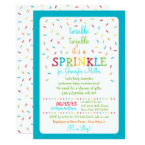 Blue Rainbow Baby Sprinkle Card