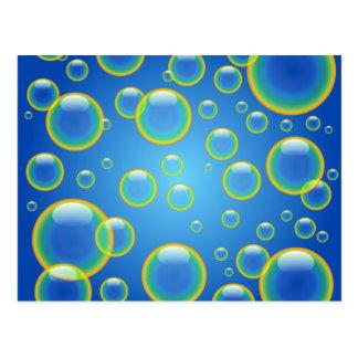 Blue Rainbow Bubbles Postcard