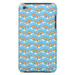 Blue rainbow pattern barely there iPod case