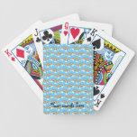 Blue rainbow pattern card decks