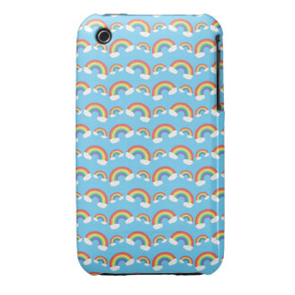 Blue rainbow pattern iPhone 3 covers