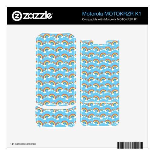 Blue rainbow pattern motorola MOTOKRZR k1 skin