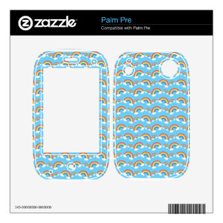 Blue rainbow pattern decal for palm pre