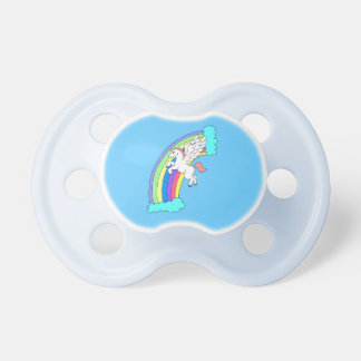 Blue Rainbow Pegasus Pacifier