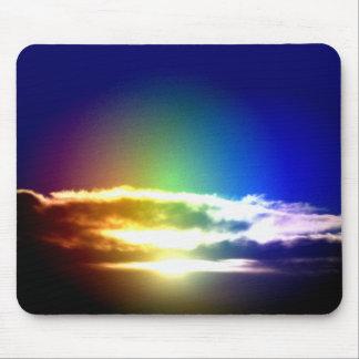 Blue Rainbow Sunset Photograph Mouse Pad