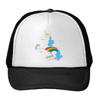 Blue rainbow unicorn hat