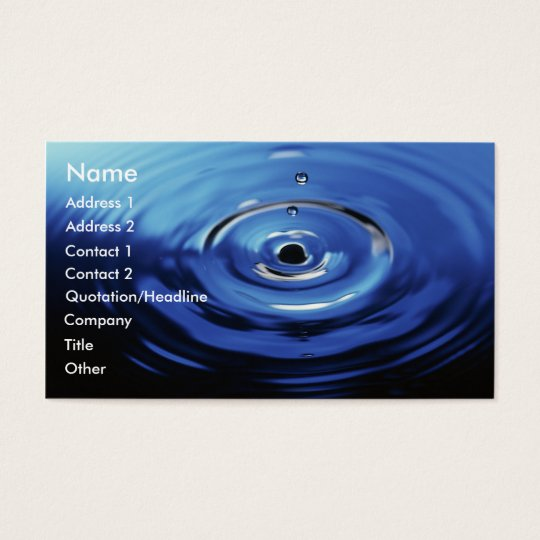 Blue Raindrop Business Card