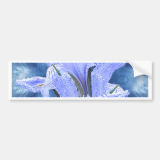 Blue raindrop Iris Bumper Sticker