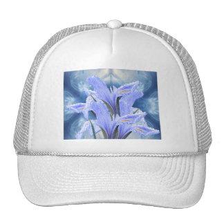 Blue raindrop Iris Trucker Hat