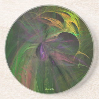 BLUE RAINFOREST ORCHID Drinks Coaster
