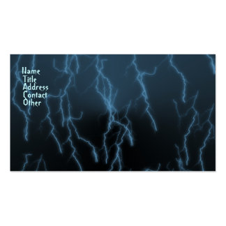 Blue Raining Lightning Business Cards