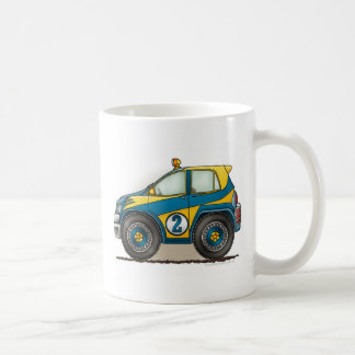 Blue Rally Car Mugs