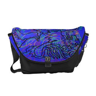 Blue Rampant Lions Courier Bags