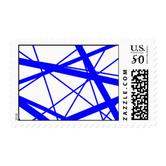 Blue Random Stripes Postage