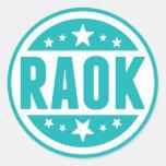 Blue RAOK Stickers