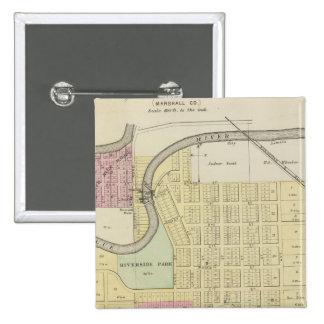 Blue Rapids, Marshall County, Kansas Pinback Button