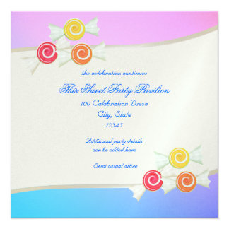 Blue Raspberry Candy Bat Mitzvah Invitation