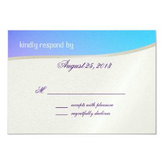 Blue Raspberry Candy Bat Mitzvah Response Card