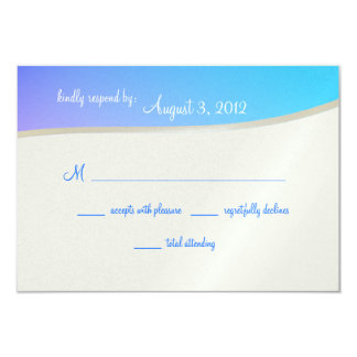 Blue Raspberry Candy Bat Mitzvah RSVP 3.5x5 Paper Invitation Card