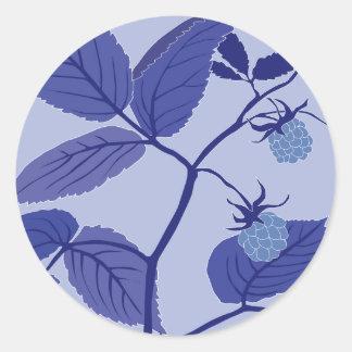 blue raspberry classic round sticker
