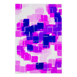 """Blue Raspberry"" Geometric Art Poster"