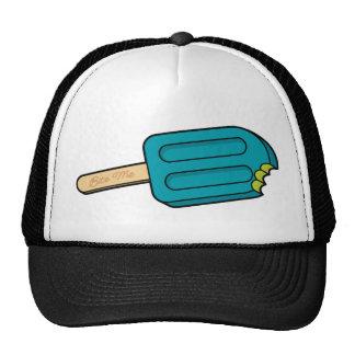 Blue Raspberry Popsicle Bite Me Hat (White/Black)