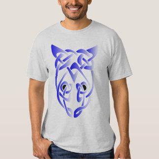 Blue Rat Head Knot Tee Shirt
