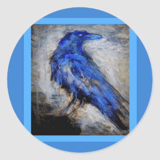 Blue Raven by Sharles Classic Round Sticker