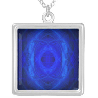 Blue Ray Attunement Chamber Silver Plated Necklace