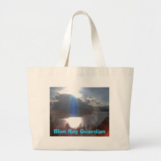 Blue Ray Guardian Large Tote Bag