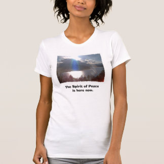 Blue Ray with edging, The Spirit of Peace is he... T-Shirt