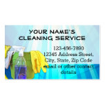 Blue Rays Custom Cleaning Service Janitor Business Double-Sided Standard Business Cards (Pack Of 100)
