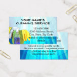 Blue Rays Custom Cleaning Service Janitor Business Business Card