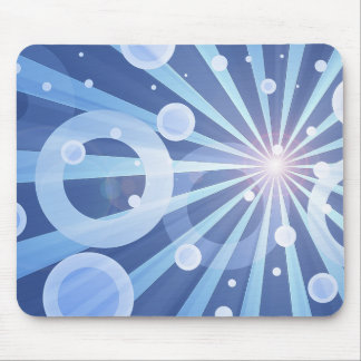 Blue Rays Mouse Pad