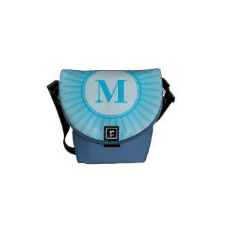 Blue Rays of Light Monogram Courier Bag